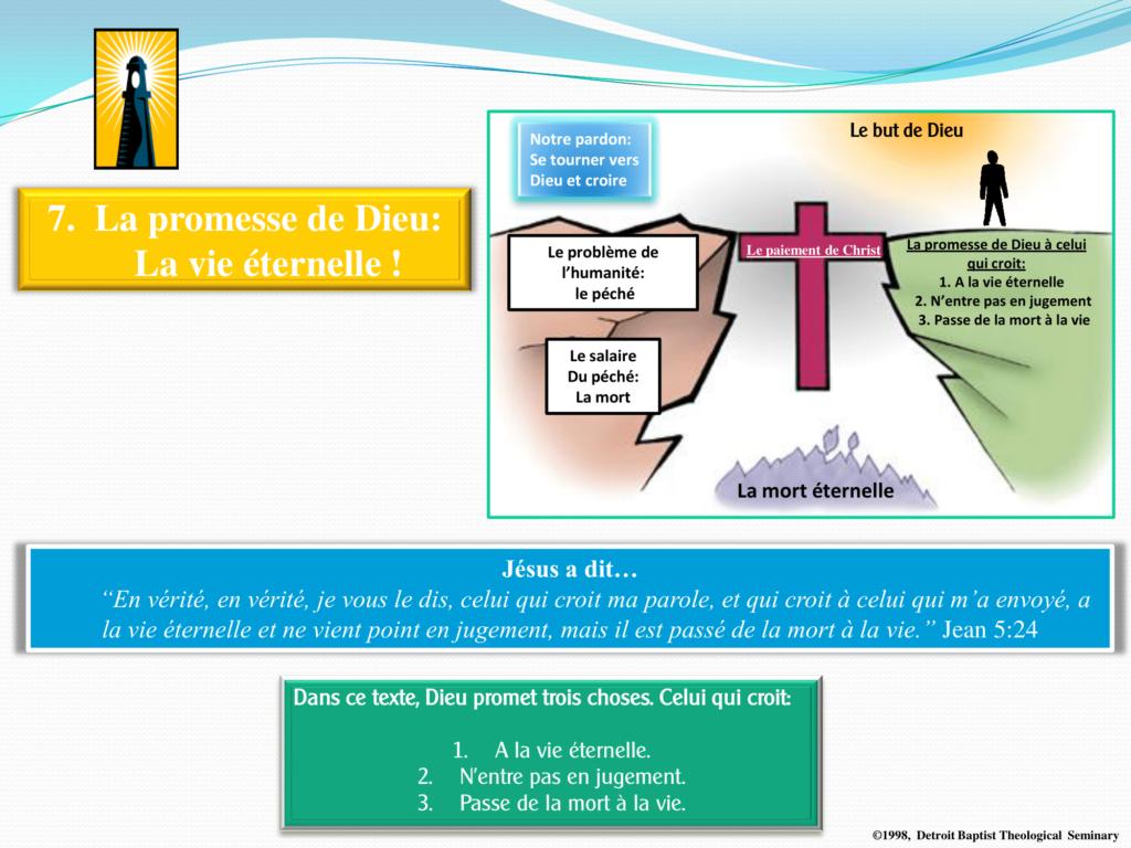 7. La promesse de Dieu - La vie éternelle