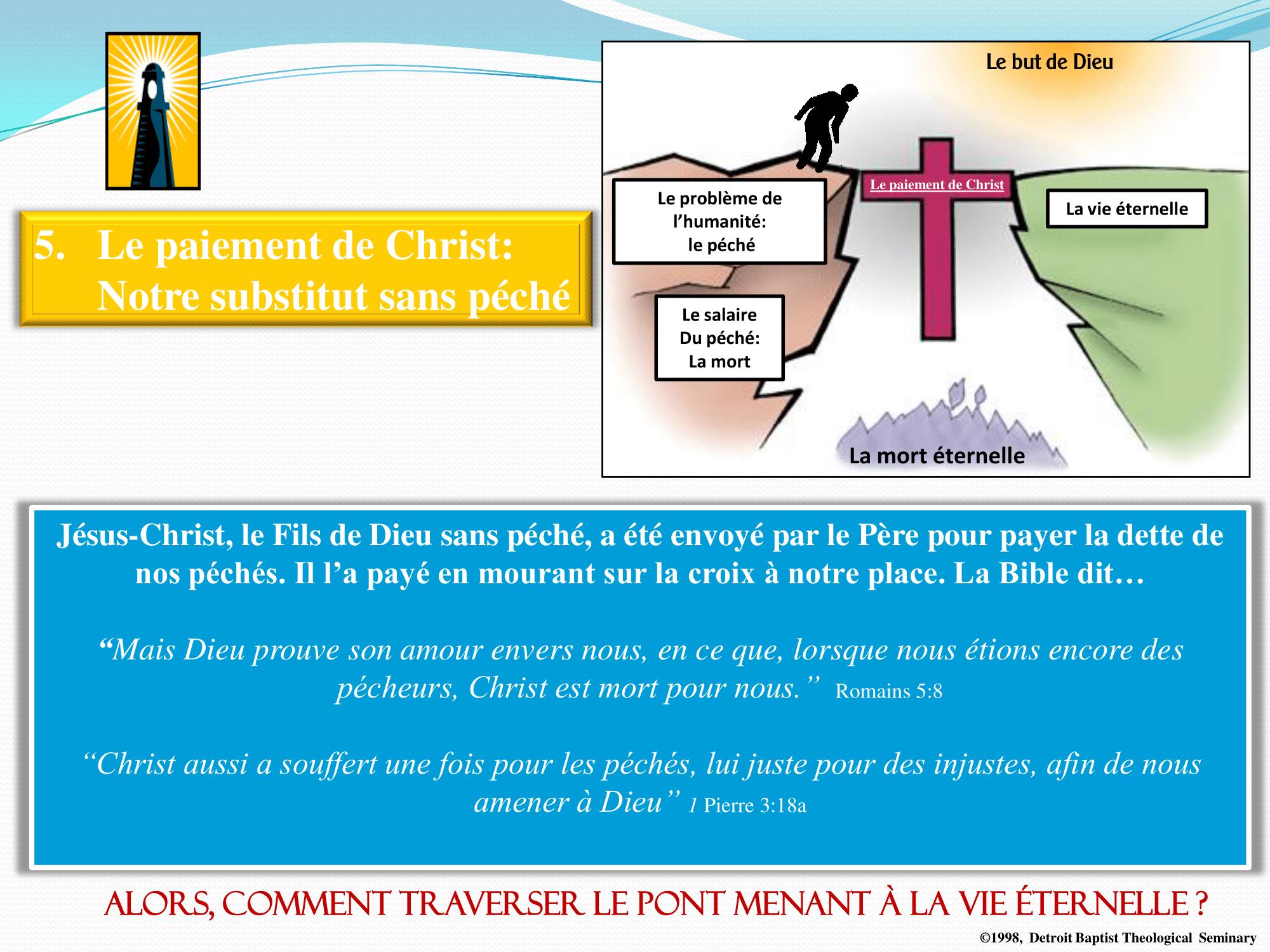Le paiement de Christ - Notre substitut sans péché